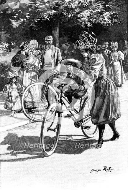 Cycling, c1890. Artist: Unknown