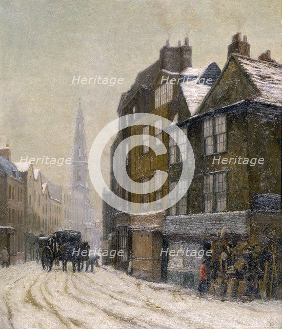 'Drury Court with the Church of St Mary-le-Strand', 1880. Artist: Philip Norman