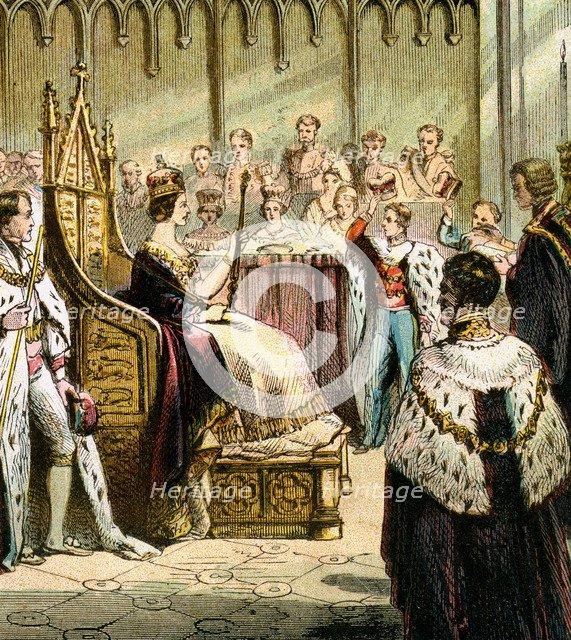 'Coronation of Victoria, 1837', (c1850s). Artist: Unknown