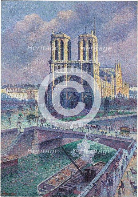 Notre-Dame de Paris, 1900. Artist: Luce, Maximilien (1858-1941)
