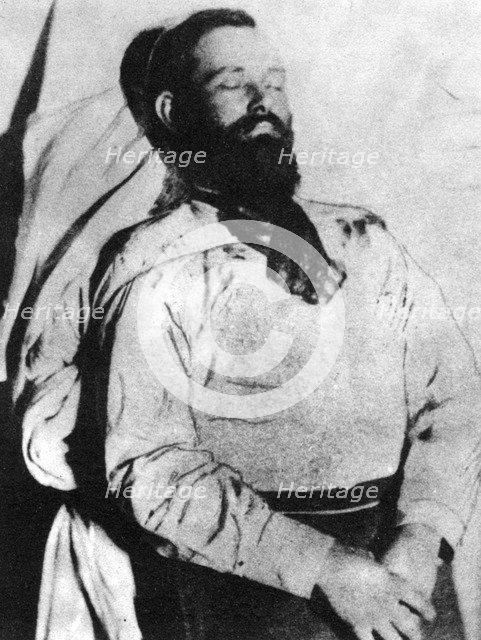 Jesse James in death, 1882 (1954). Artist: Unknown