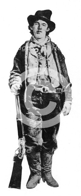 Billy the Kid, American gunman and outlaw, c1877-1881 (1954). Artist: Unknown