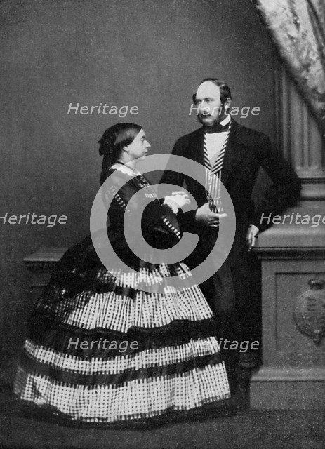 Queen Victoria and Albert, Prince Consort, 1861 (1964).Artist: John Jabez Edwin Mayall