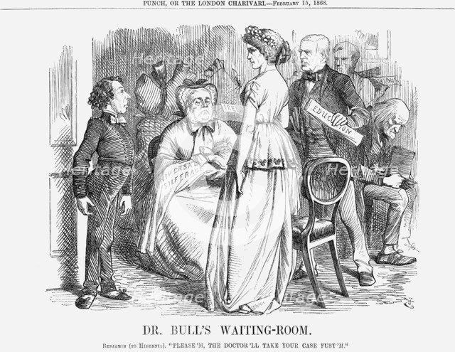 'Dr. Bull's Waiting-Room', 1868. Artist: John Tenniel