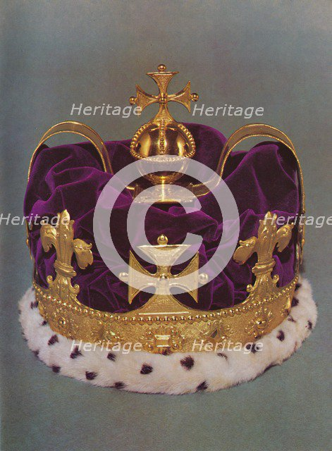 'The crown made for the Prince of Wales in 1729', 1953. Artist: Unknown.