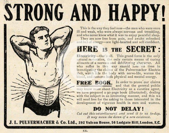 J L Pulvermacher Electric Belt, 1910s. Artist: Unknown