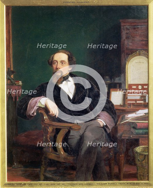 Charles Dickens, English novelist, 19th century. Artist: William Powell Frith