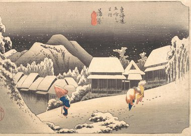 Gallery image of Evening Snow, 1797-1861., 1797-1861. Creator: Ando Hiroshige.