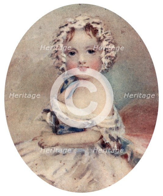 Portrait of Queen Victoria as a child, 19th century, (1913). Artist: Unknown