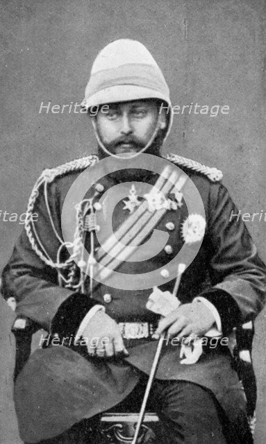 King Edward VII of the United Kingdom in military uniform, (1910). Artist: Unknown