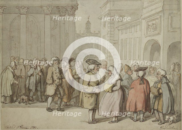 A Group sketched at Rome, 1770-1820. Artist: Thomas Rowlandson.