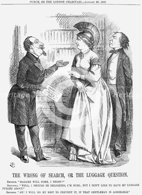 'The Wrong of Search, or The Luggage Question', 1867 Artist: John Tenniel