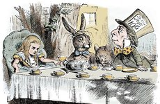 Thumbnail image of Scene from Alice's Adventures in Wonderland by Lewis Carroll, 1865. Artist: John Tenniel
