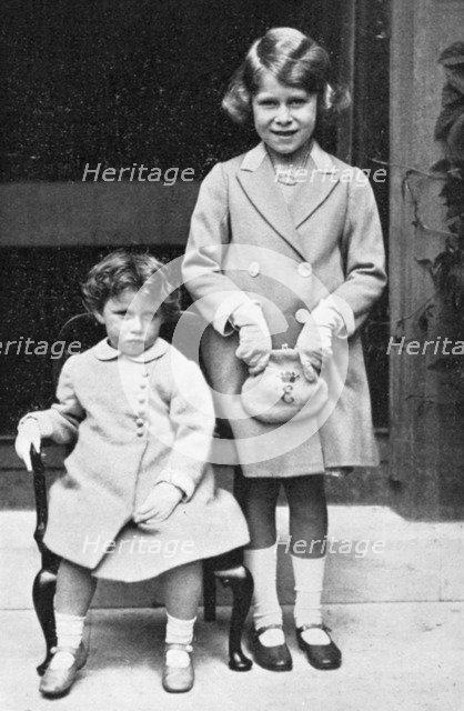 Princesses Elizabeth and Margaret, 1933. Artist: Unknown