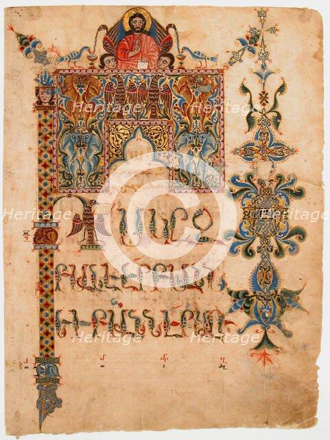 Title Page of the Gospel of John , 1300-1310. Creator: Sargis Pidsak.