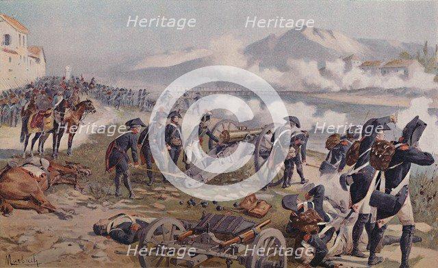 'Bonaparte Aiming The Cannon at Lodi', 1796, (1896).  Artist: Unknown.