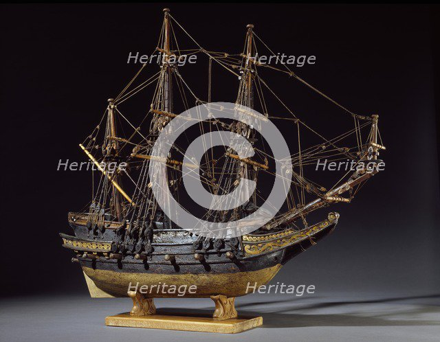 Model Ship, 17th century. Artist: Unknown.