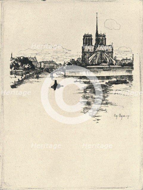 'The Apse of Notre Dame', 1915. Artist: Eugene Bejot.
