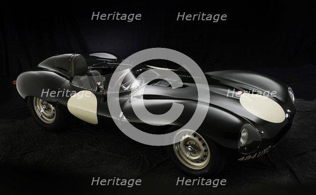 1956 Jaguar D type Artist: Unknown.