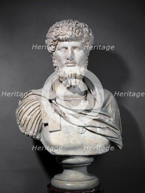 Portrait bust of Lucius Verus, late 2nd century. Artist: Unknown.