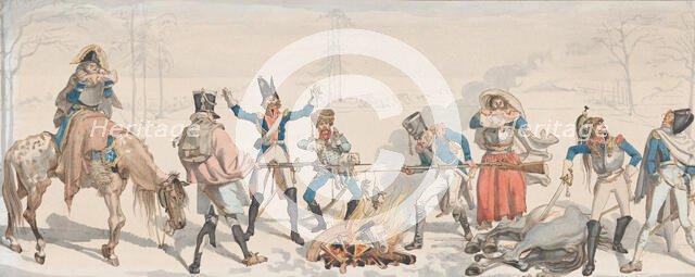 Lunch at the Fork (Le Dejeuner à la Fourchette), 1813. Creator: Johann Gottfried Schadow.