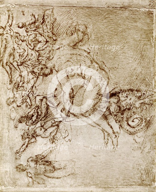 Pen and ink sketches by Leonardo De Vinci, 1913.Artist: Leonardo da Vinci
