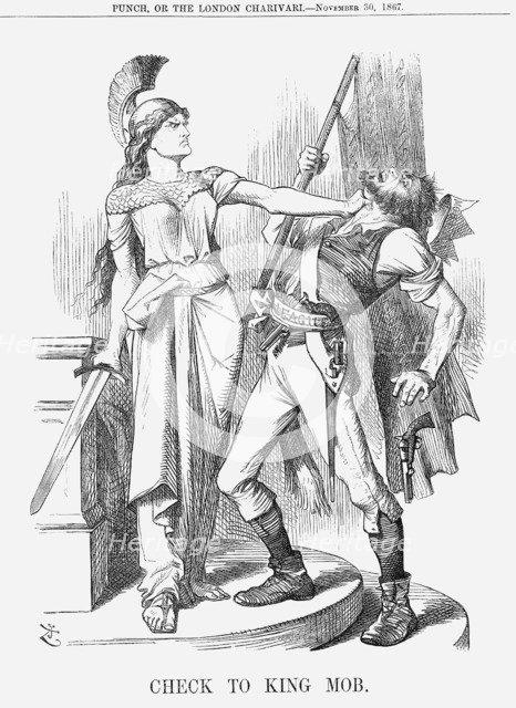 'Check to King Mob', 1867. Artist: John Tenniel