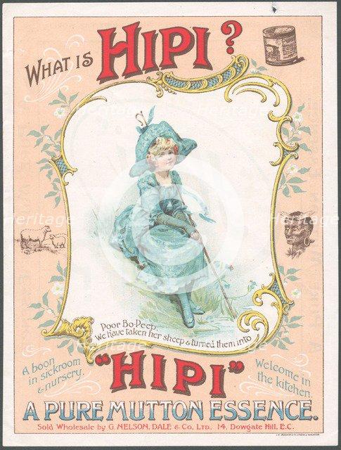Hipi Mutton Essence, 1880s. Artist: Unknown