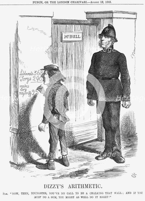 'Dizzy's Arithmetic', 1865 Artist: John Tenniel