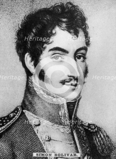 Simon Bolivar (1783-1830), Venezuelan military and political leader, c1910. Artist: Unknown