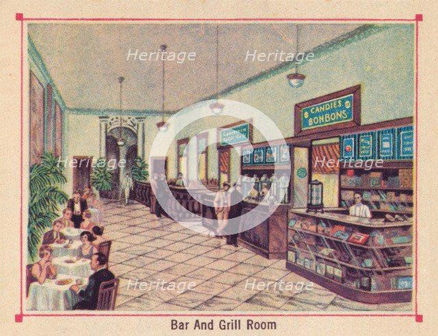 'Bar and Grill Room - Hotel Florida - Havana - Cuba', c1910. Artist: Unknown.