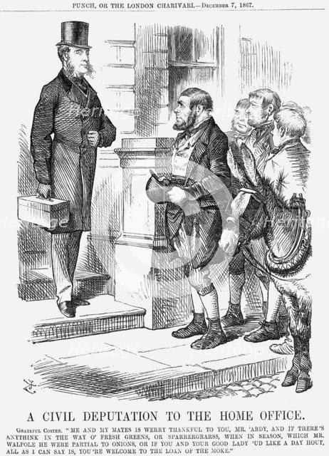 'A Civil Deputation to the Home Office', 1867. Artist: John Tenniel