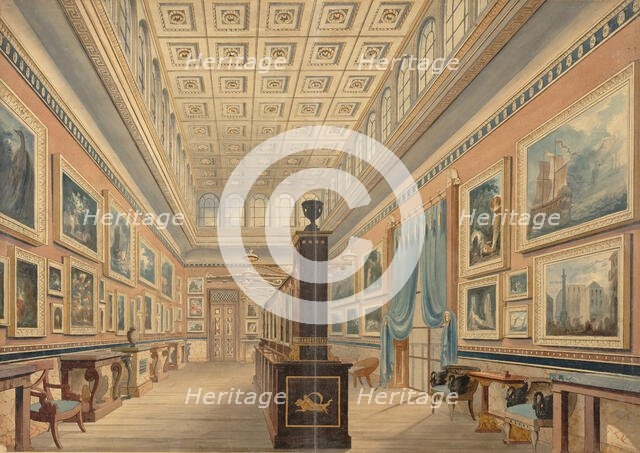 The Flemish Picture Gallery, the Mansion of Thomas Hope, Duchess Street, Portland Place, 1830-51. Creator: Robert William Billings.