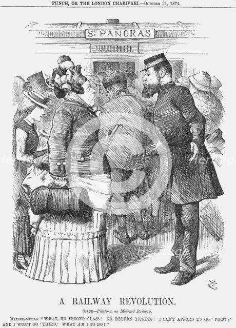 'A Railway Revolution', 1874. Artist: Joseph Swain