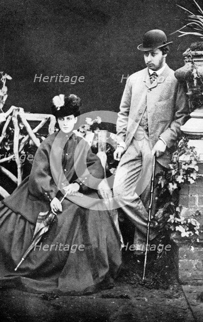 The Prince and Princess of Wales, 19th century (1910). Artist: Unknown
