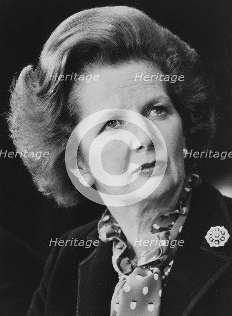 Margaret Thatcher, British politician, c1975-1990. Artist: Unknown