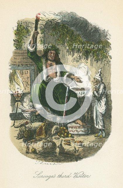 Scene from A Christmas Carol by Charles Dickens, 1843. Artist: John Leech