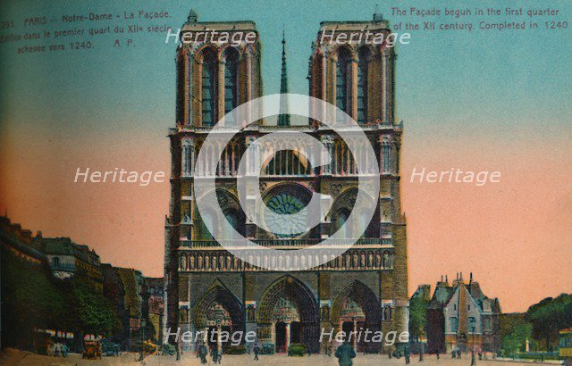 Notre-Dame Cathedral, Paris, c1920. Artist: Unknown.