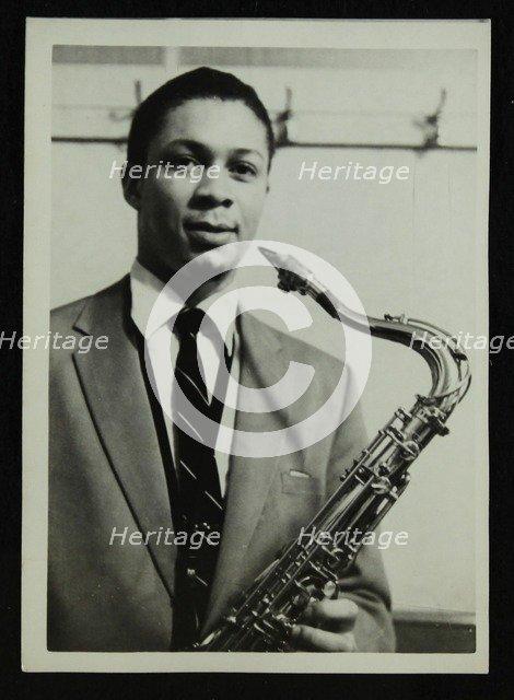 Count Basie Orchestra saxophonist Frank Foster, c1950s. Artist: Denis Williams