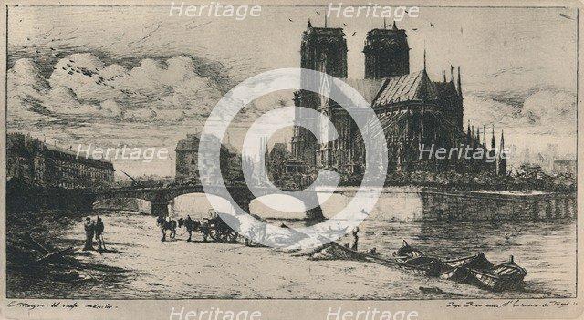 'L'Abside De Notre-Dame De Paris (4th State, 6 1/2 x 11 3/4 Inches)', 1854, (1927). Artist: Charles Meryon.