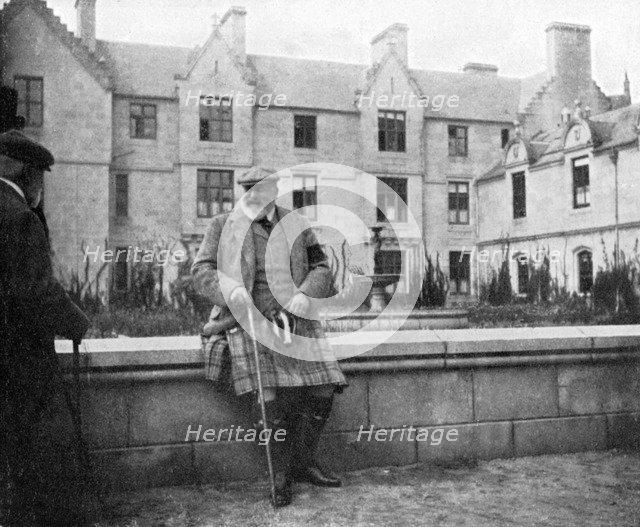 King Edward VII (1841-1910) at Balmoral, Scotland, 1908.Artist: Queen Alexandra