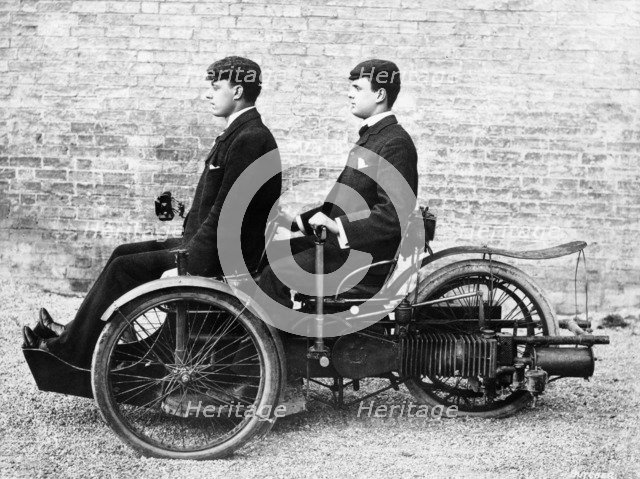 Charles Rolls and Louis Paul in a Bollee, c1897-c1904. Artist: Unknown