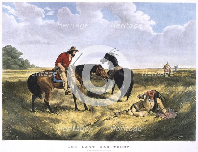 'The Last War-Whoop', 1834-1907. Artist: Archibald Campbell Tait
