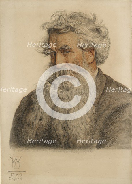 Portrait of Thomas Combe, Printer to the University (1796-1872). Artist: William Holman Hunt.