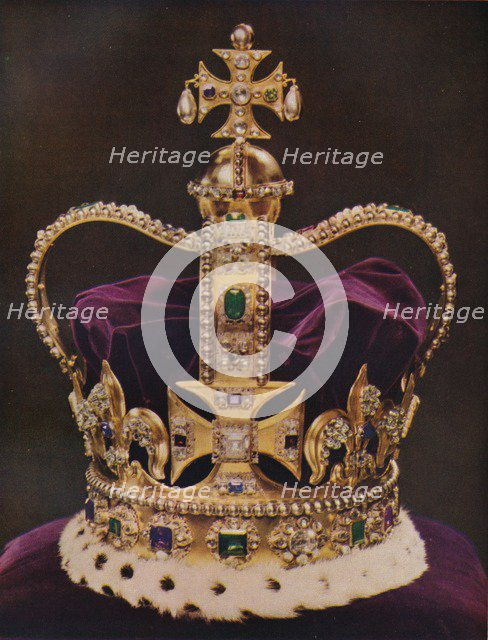 'The Crown of England, St Edward's Crown', c1937. Artist: Unknown.