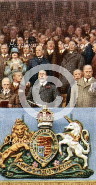King George V at the Cup Final, Wembley, April 23rd, 1927, (c1935). Artist: Unknown