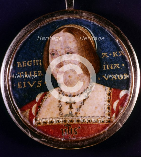 Catherine of Aragon, first wife of Henry VIII, c1510-1533. Artist: Lucas Horenbout