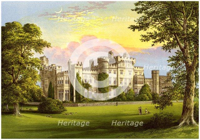 Hawarden Castle, Flintshire, Wales, home of William Gladstone, c1880. Artist: Unknown