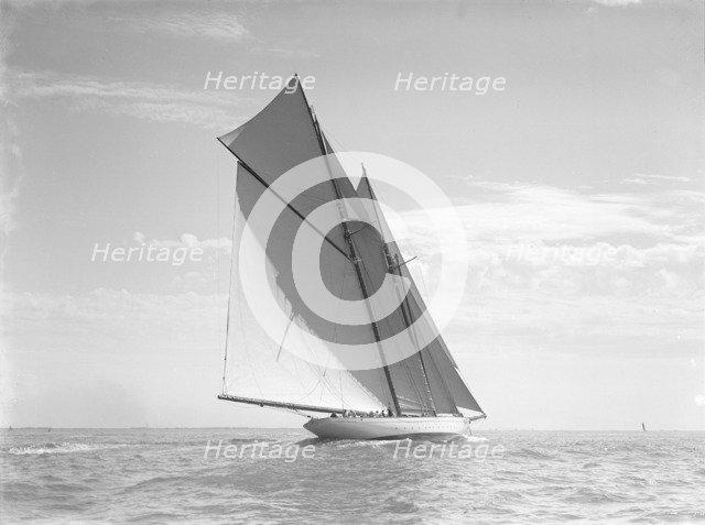 The schooner 'Meteor IV', 1911. Creator: Kirk & Sons of Cowes.