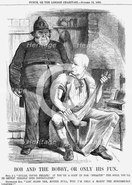 'Bob and The Bobby, Or Only His Fun', 1869. Artist: Joseph Swain